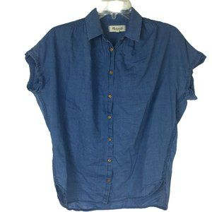 Madewell Women's Casual Button Front Shirt Blouse